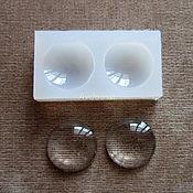 Материалы для творчества handmade. Livemaster - original item Silicone mold Cabochon Round 25х9мм. Handmade.