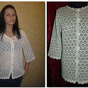 Одежда handmade. Livemaster - original item 100% linen jacket DAISY with strapping SHELLS. Handmade.