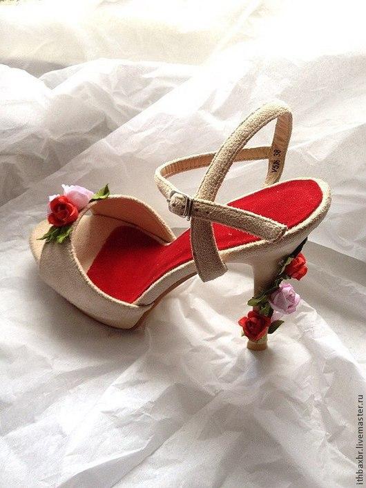"""Обувь ручной работы. Ярмарка Мастеров - ручная работа. Купить Босоножки""""Сад Роз""""в стиле DG. Handmade. Розы ручной работы"""