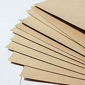 Материалы для творчества ручной работы. Ярмарка Мастеров - ручная работа Крафт-картон в листах. Handmade.