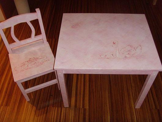 Детская ручной работы. Ярмарка Мастеров - ручная работа. Купить Детский столик. Handmade.