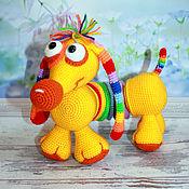 Куклы и игрушки handmade. Livemaster - original item Educational soft toy Rainbow Dachshund. Dog knitted. Handmade.