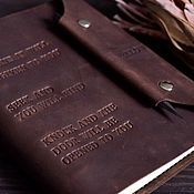 Канцелярские товары handmade. Livemaster - original item Mens leather notebook on the rings pockets hand-sewn seam. Handmade.