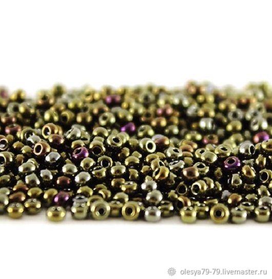 10 gr 10/0 Czech beads Preciosa 59115 iris brown, Beads, Chelyabinsk,  Фото №1