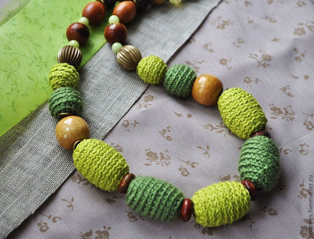 Beads 'I love green............', Necklace, Moscow,  Фото №1