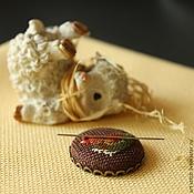 """Материалы для творчества ручной работы. Ярмарка Мастеров - ручная работа """"Шоколадки"""" Магнитный держатель для игл. Handmade."""