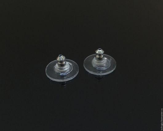 Для украшений ручной работы. Ярмарка Мастеров - ручная работа. Купить Заглушки классические серебристые 11 мм, 1 пара. Handmade.