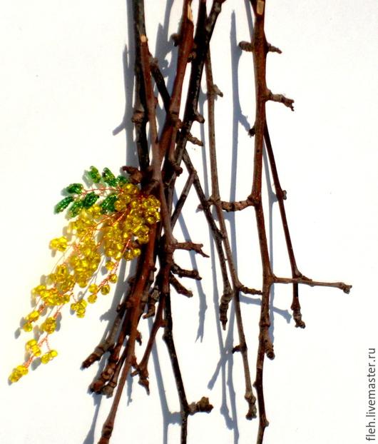 """Букеты ручной работы. Ярмарка Мастеров - ручная работа. Купить Дерево золотого дождя """"Кассия"""". Handmade. Желтый, солнечное настроение"""