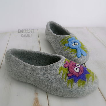 Footwear handmade. Livemaster - original item Slippers felted