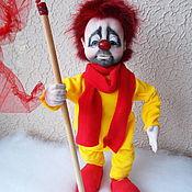 Мягкие игрушки ручной работы. Ярмарка Мастеров - ручная работа Кукла клоун СНежное шоу. Handmade.