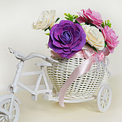 Цветы и флористика handmade. Livemaster - original item Bike interior decorating with roses. Handmade.