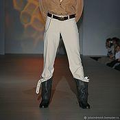 Одежда handmade. Livemaster - original item 6_033 men`s Jeans, color beige. Handmade.