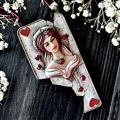 """Колье ручной работы. Ярмарка Мастеров - ручная работа Колье """"Regina Corda"""" скульптурная миниатюра. Handmade."""