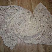 Аксессуары ручной работы. Ярмарка Мастеров - ручная работа Шарф  ,,снежок,,. Handmade.