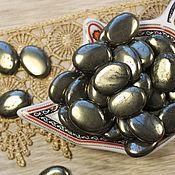 Материалы для творчества ручной работы. Ярмарка Мастеров - ручная работа Пирит, бусина 20х15 мм овал кабошон. Handmade.