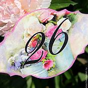 """Для дома и интерьера ручной работы. Ярмарка Мастеров - ручная работа Табличка на загородный дом/квартиру """"26"""". Handmade."""