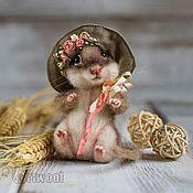 """Куклы и игрушки ручной работы. Ярмарка Мастеров - ручная работа Мышка валяная """"Кокетка"""". Handmade."""