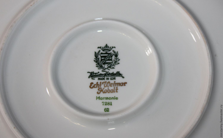 Large dinner plates cobalt with gold rim Weimar Germany. & Large dinner plates cobalt with gold rim Weimar Germany \u2013 shop ...