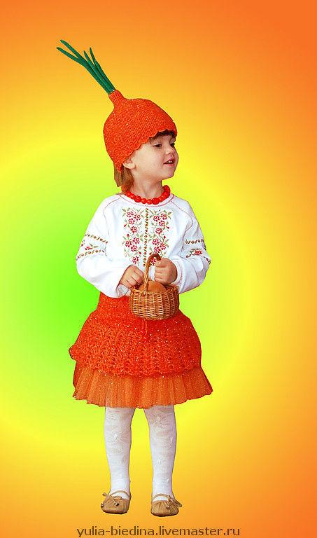 Kids' Carnival Costumes handmade. Livemaster - handmade. Buy Carnival costume 'Onion'.Knitting for children, children's party, yarn