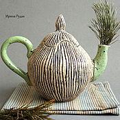 """Посуда ручной работы. Ярмарка Мастеров - ручная работа Чайный сервиз """"Пикник на траве"""". Handmade."""