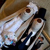 Куклы и игрушки ручной работы. Ярмарка Мастеров - ручная работа Большие свадебные зайцы. Handmade.
