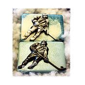 Косметика ручной работы handmade. Livemaster - original item Hockey player handmade soap buy as a gift to an athlete Moscow. Handmade.