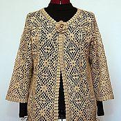 Одежда handmade. Livemaster - original item Cardigan crocheted of cotton cashmere and silk. Handmade.