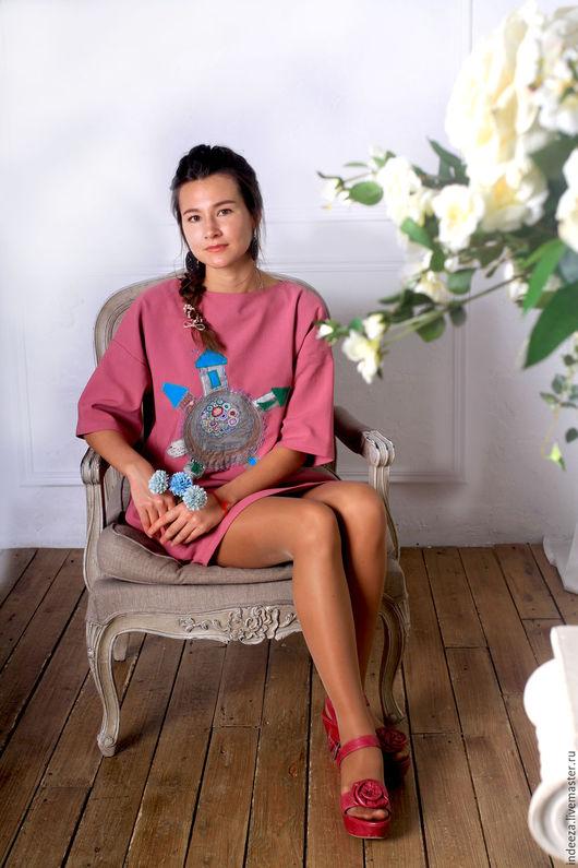 Платья ручной работы. Ярмарка Мастеров - ручная работа. Купить Платье-кокон. Handmade. Розовый, женская одежда