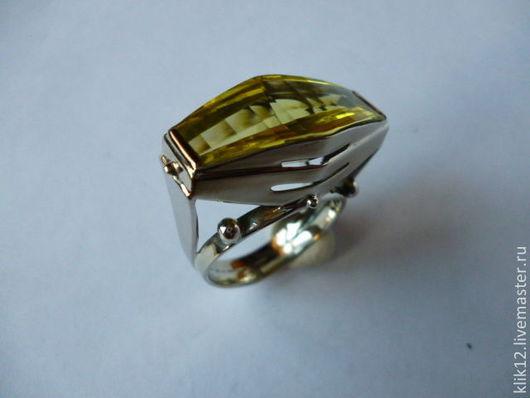 """Кольца ручной работы. Ярмарка Мастеров - ручная работа. Купить кольцо """"Лимонная Готика"""" авторская работа художника. Handmade. Желтый"""