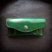 handmade. Livemaster - original item Leather case for sunglasses, eyeglass case Labour 5_1. Handmade.