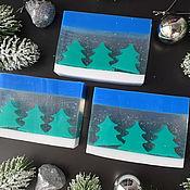 Косметика ручной работы handmade. Livemaster - original item Soap Christmas gift Three Christmas trees. Handmade.