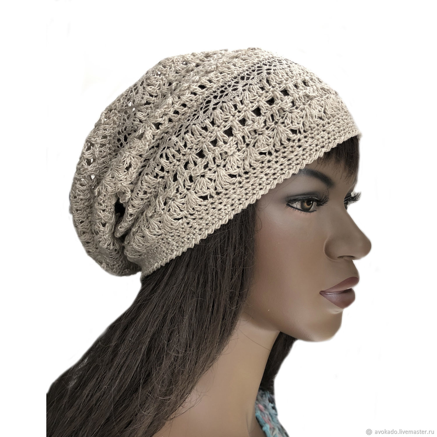 Summer openwork hat for women Boho, Caps, Moscow,  Фото №1