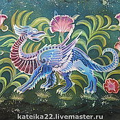 """Картины и панно ручной работы. Ярмарка Мастеров - ручная работа Батик картина""""Дракон"""". Handmade."""