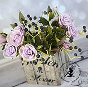 Цветы и флористика handmade. Livemaster - original item Shrub roses and wild grapes. Handmade.