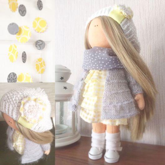 Куклы тыквоголовки ручной работы. Ярмарка Мастеров - ручная работа. Купить Интерьерная куколка. Handmade. Белый, серый, текстильная кукла