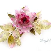 Украшения handmade. Livemaster - original item Brooch rose Mary`s Silk floral. Handmade.