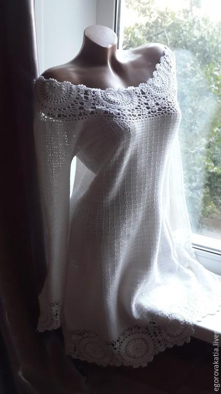 Платья ручной работы. Ярмарка Мастеров - ручная работа. Купить Майами -платье крючком. Handmade. Платье, вязаное летнее платье