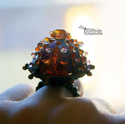 """Кольца ручной работы. Ярмарка Мастеров - ручная работа. Купить Кольцо """"Путеводная звезда"""". Handmade. Lampwork, стекло"""