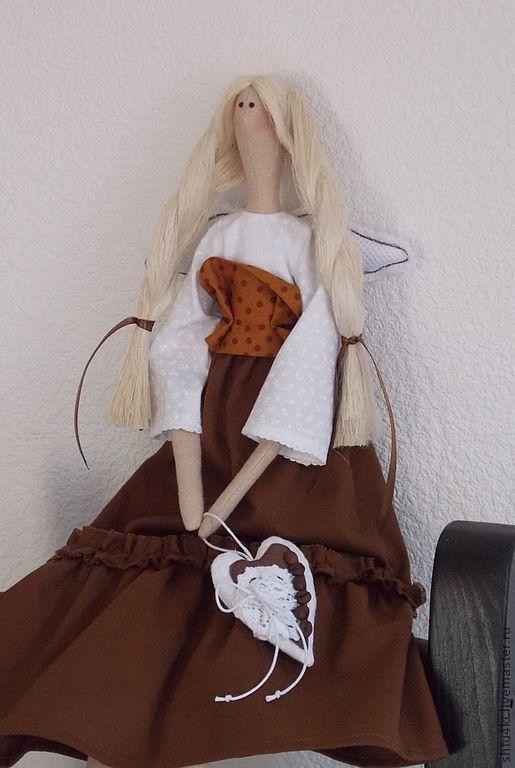 Куклы Тильды ручной работы. Ярмарка Мастеров - ручная работа. Купить Кофеечка (2). Handmade. Коричневый, текстильная кукла