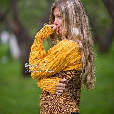 Одежда ручной работы. Ярмарка Мастеров - ручная работа Вязаный свитер. Теплый свитер. Свитер оверсайз. Handmade.