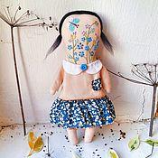 Куклы и игрушки ручной работы. Ярмарка Мастеров - ручная работа Авторская кукла с вышивкой Незабудка. Handmade.