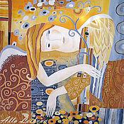 """Аксессуары ручной работы. Ярмарка Мастеров - ручная работа Шелковый платок """"Ангел"""". Handmade."""