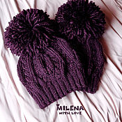 Аксессуары handmade. Livemaster - original item Children`s knitted set Blackberry, knitted hats and knitted scarves.. Handmade.