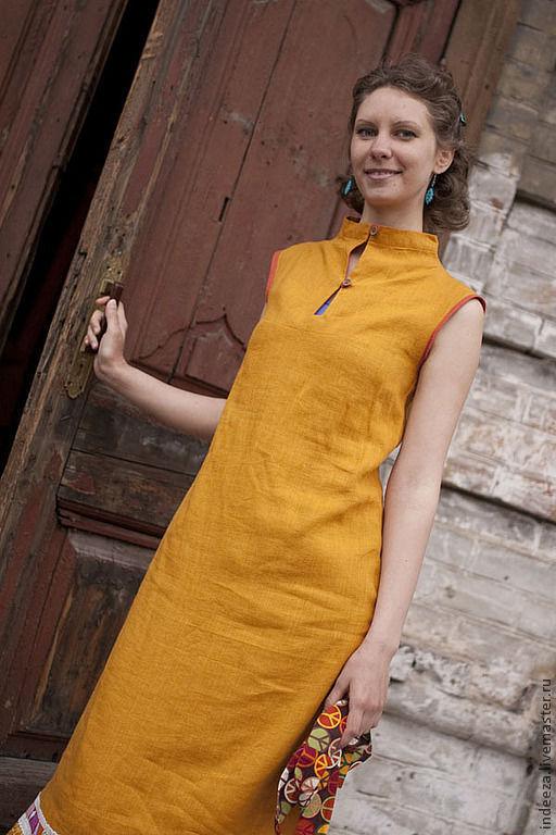 """Платья ручной работы. Ярмарка Мастеров - ручная работа. Купить Платье """"Оранжевое лето"""". Handmade. Оранжевый, женская одежда"""