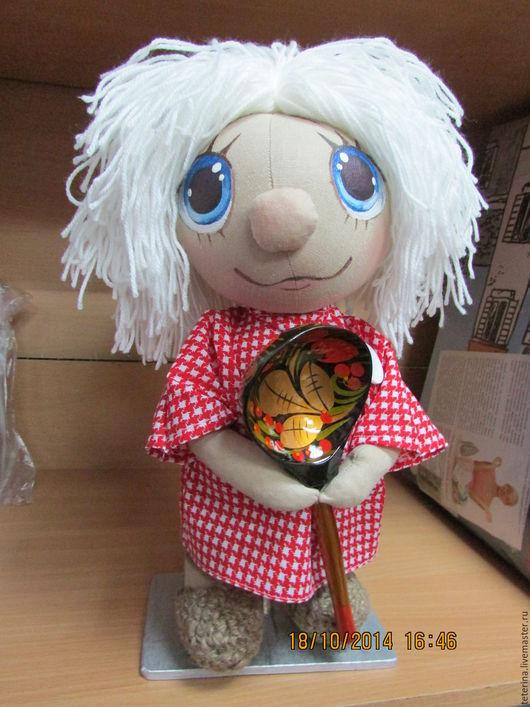 Народные куклы ручной работы. Ярмарка Мастеров - ручная работа. Купить Домовенок Кузя. Handmade. Ярко-красный, Домовенок Кузя
