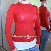 Одежда ручной работы. Ярмарка Мастеров - ручная работа Пуловер кашемировый. Handmade.