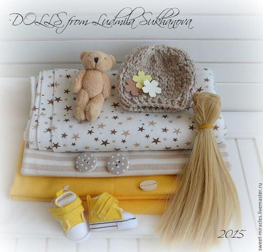 Куклы и игрушки ручной работы. Ярмарка Мастеров - ручная работа. Купить Набор для самостоятельного пошива куколки 17. Handmade. Желтый