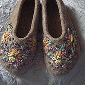 """Обувь ручной работы. Ярмарка Мастеров - ручная работа Тапочки """"Простота и уют"""". Handmade."""
