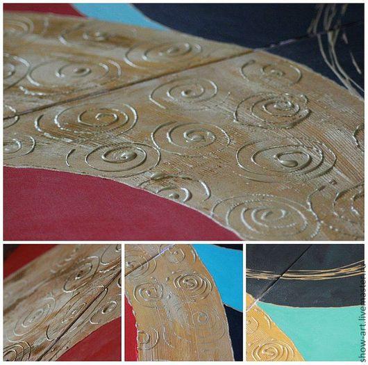 Абстракция ручной работы. Ярмарка Мастеров - ручная работа. Купить Триптих  (модульная картина) «Абстракция». Handmade. Подарок, панно
