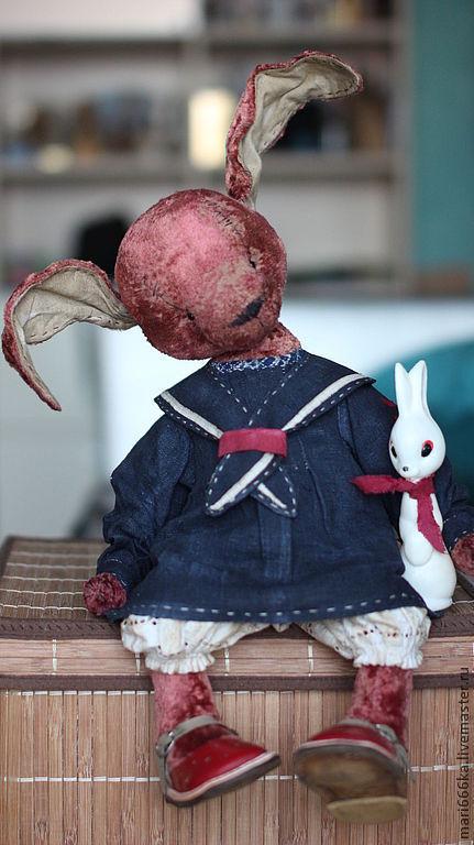 Мишки Тедди ручной работы. Ярмарка Мастеров - ручная работа. Купить Лёлька.. Handmade. Фуксия, тедди зайка, плюш винтажный